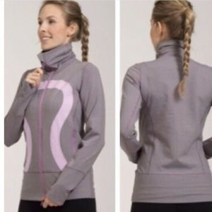 RARE- Lululemon in stride micro stripe jacket